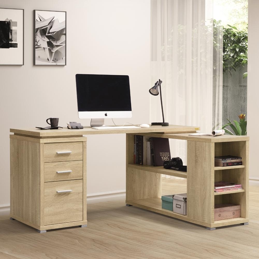 美傢兩色可選/複合式多用途書桌/寬152.4深120高75公分/DIY組合家具
