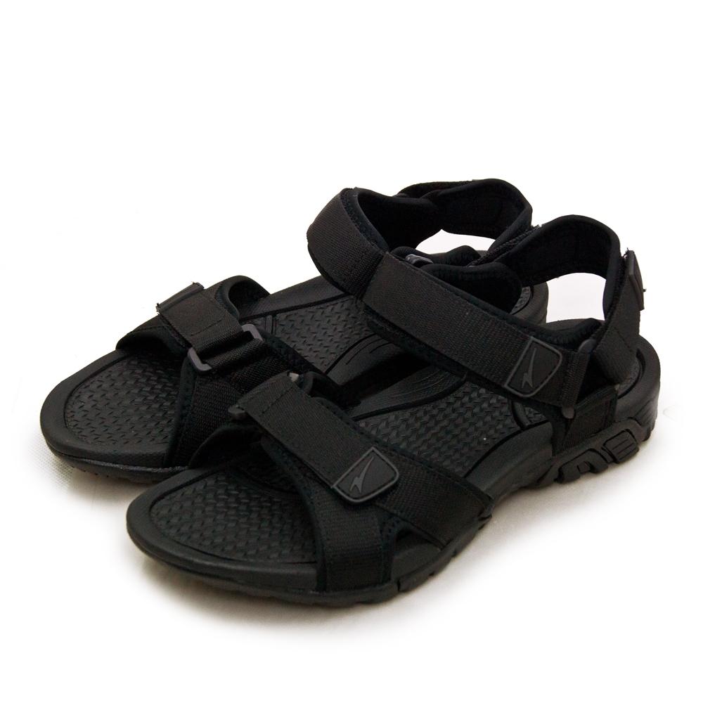 ARNOR 輕量Q彈織帶運動涼鞋 城市漫遊系列 酷玩黑 03660
