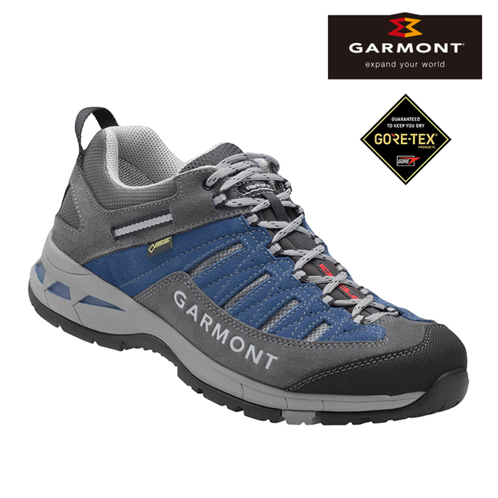 GARMONT Gore-tex低筒疾行健走鞋TRAIL BEAST 藍色