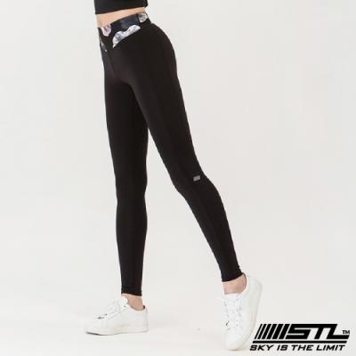 STL yoga legging Sara 9分 韓國瑜珈 中低腰 運動訓練 拉提塑身緊身壓力褲 荷花