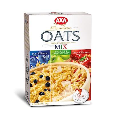 瑞典AXA  AXA即食水果燕麥片組 藍莓40gx2+蘋果40gx2+草莓40gx2