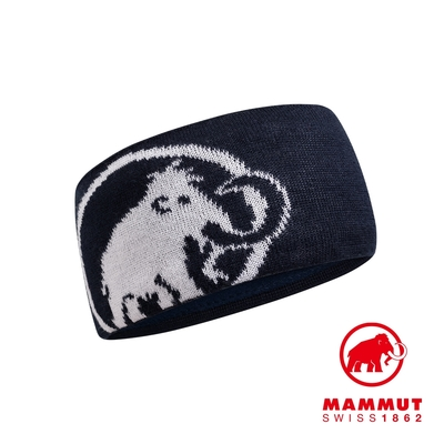 【Mammut】Tweak Headband 保暖針織LOGO頭帶 海洋藍 #1191-03451