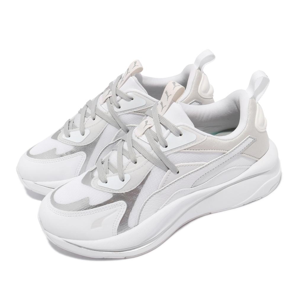 Puma 休閒鞋 RS Curve Glow 女鞋 海外限定 復古 厚底 老爹鞋 穿搭推薦 白 灰 375174-02