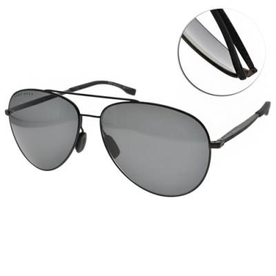 HUGO BOSS偏光太陽眼鏡 雙槓帥氣款/深棕 #HB0938S 2P4M9