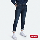 Levis 男友褲 中腰寬鬆版牛仔褲 保暖纖維 內刷毛 彈性布料 及踝款