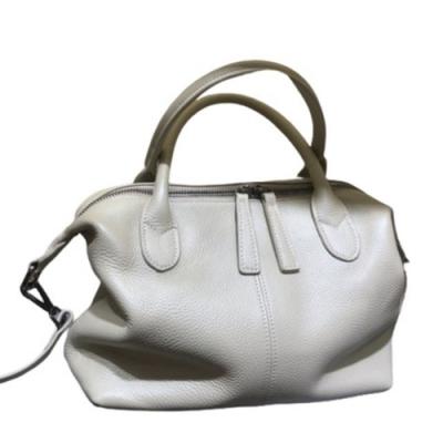 米蘭精品 手提包真皮側背包-簡約純色牛皮百搭女包包情人節生日禮物7色73yc2