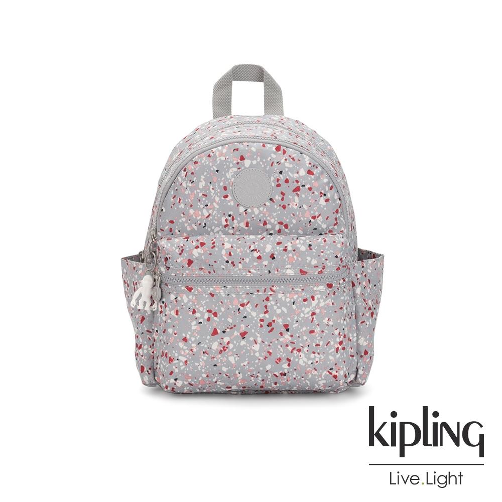 Kipling 繽紛水磨石圖樣後背包-SORDA
