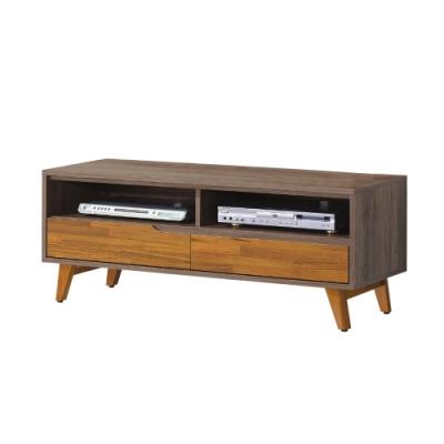 柏蒂家居-韋納4尺二抽電視櫃/視聽櫃-120x38x47cm