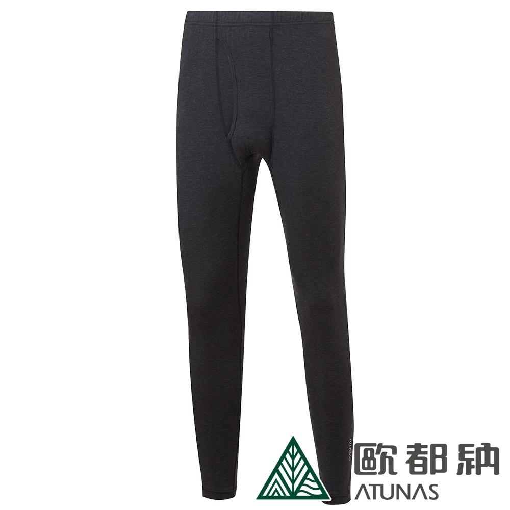 【ATUNAS 歐都納】男款熱流感保暖內著長褲/發熱褲/衛生褲A1UCAA05M黑