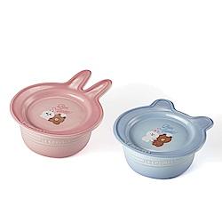 LE CREUSETxLINE FRIENDS 瓷器早餐碗盤組 (熊大與兔兔)