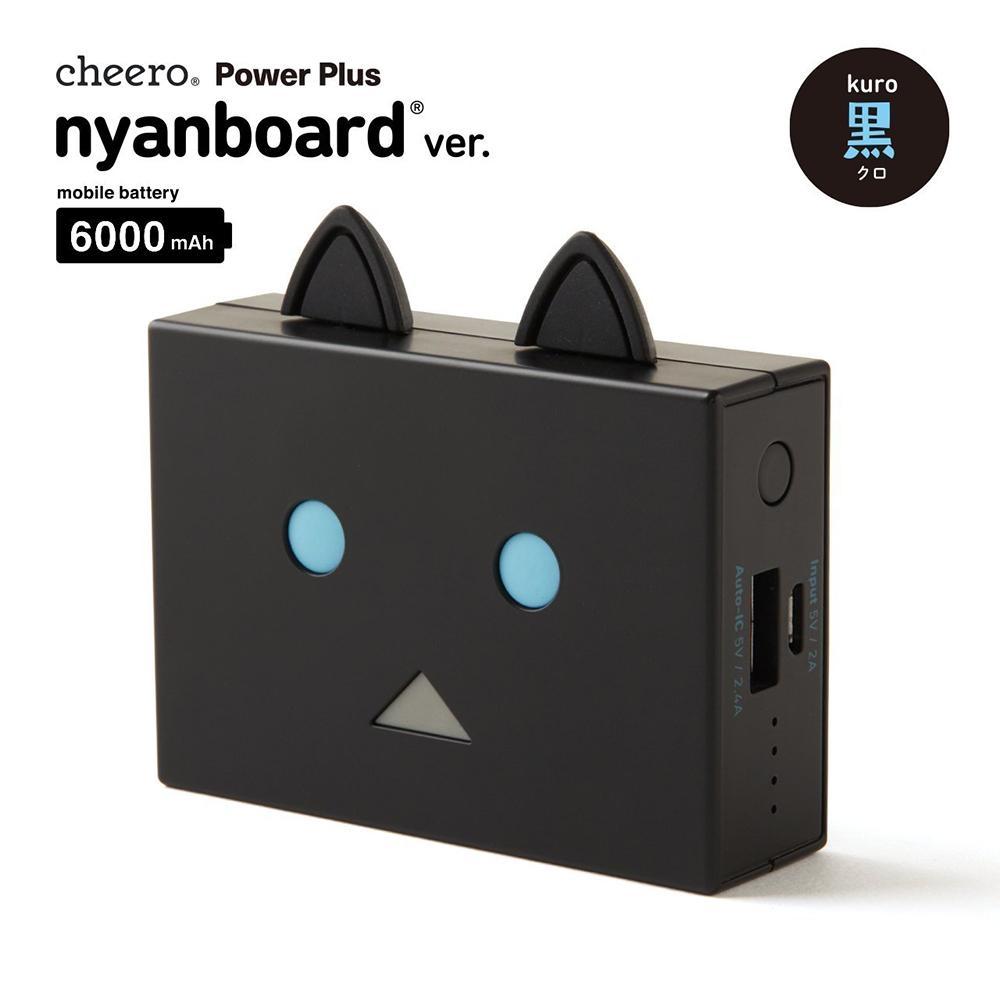 日本cheero貓阿愣6000mAh行動電源 (黑貓)
