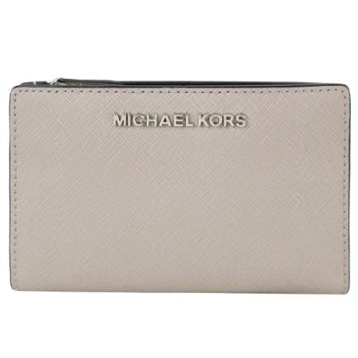 MICHAEL KORS JET SET防刮卡片零錢夾(附名片夾)-水泥灰