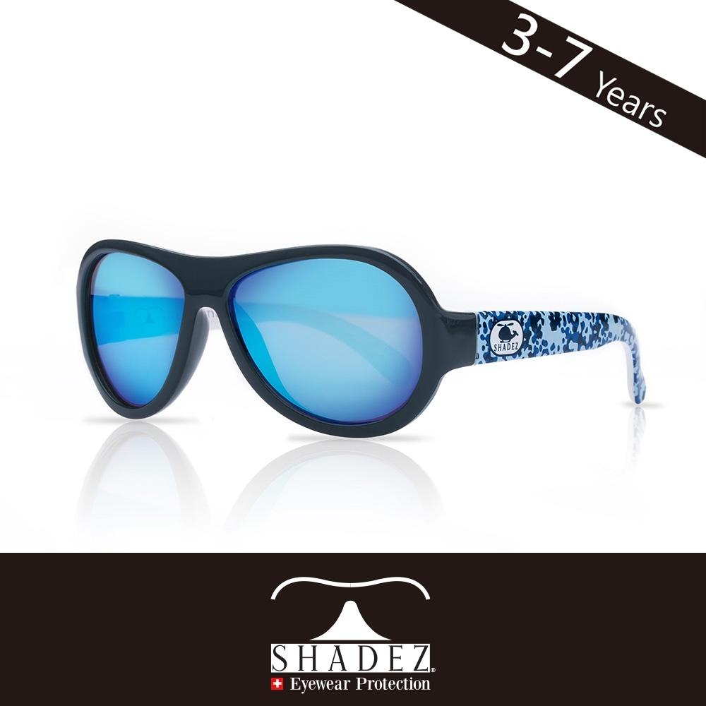 瑞士 SHADEZ 兒童太陽眼鏡 【圖騰設計款-藍色迷彩 SHZ-42】3 - 7歲
