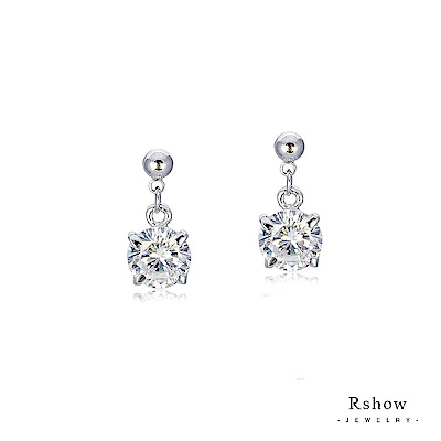 Rshow Lady 垂吊式浪漫貴族白鋯石優雅耳環