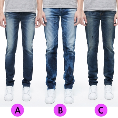 [時時樂限定]BRAPPERS 男款 修身直筒褲(三色選)