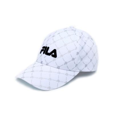 FILA 時尚LOGO帽-白色 HTV-1012-WT