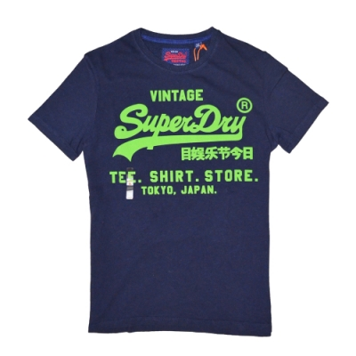 SUPERDRY 極度乾燥 男 T恤 藍色 1368