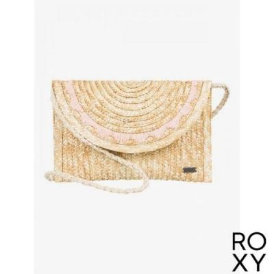 【ROXY】SALTY BUT SWEET 草編肩背包 卡其