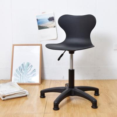 凱堡 曲線腰靠工作椅(固定椅腳) 工作椅/旋轉椅/氣壓升降椅-2入組