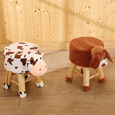 BuyJM動物造型實木腳小椅凳板凳-免組