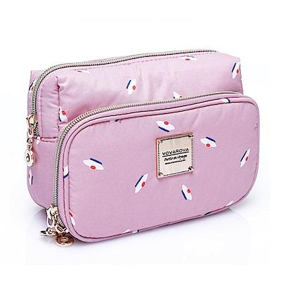 VOVAROVA空氣包-雙層化妝包-French Pom Pom(Pink)