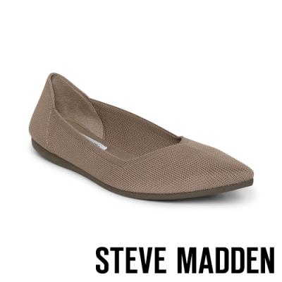 STEVE MADDEN-REVA 潮流時尚彈性面料平底鞋-卡其棕