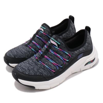 Skechers 休閒鞋 Arch Fit 襪套式 懶人鞋 女鞋 足科醫師推薦鞋墊 回彈 避震 穩定 黑 彩 149061BKMT