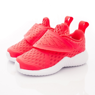 adidas童鞋 透氣輕量彈力款 FTH4543橘(小童段)