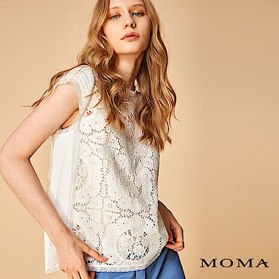 MOMA 車骨蕾絲寬版上衣