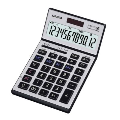 CASIO卡西歐-12位數可掀式面板頂級商用計算機(JS-120TVS-SR)
