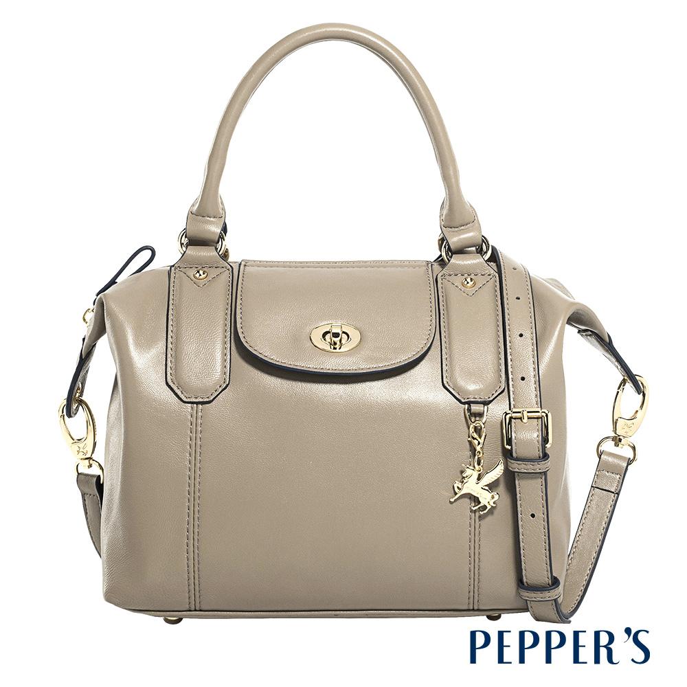 PEPPER'S Olivia 羊皮水餃包 - 亞麻灰