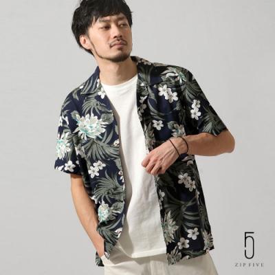 ZIP日本男裝 短袖開領花襯衫(9色)