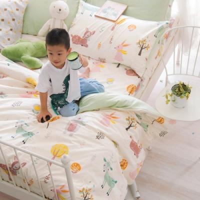 OLIVIA 小森林 黃 特大雙人床包兩用被套四件組 300織精梳純棉 台灣製