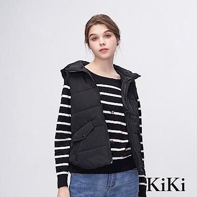 KiKi INLook 保暖實穿連帽背心夾克(黑色)