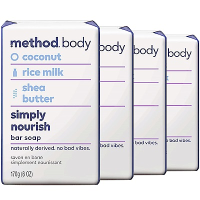 method美則感官沐浴皂-就是滋潤 170gx4入