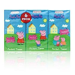 美國熱銷卡通 Peppa Pig 紙手帕-6包(10張/包)