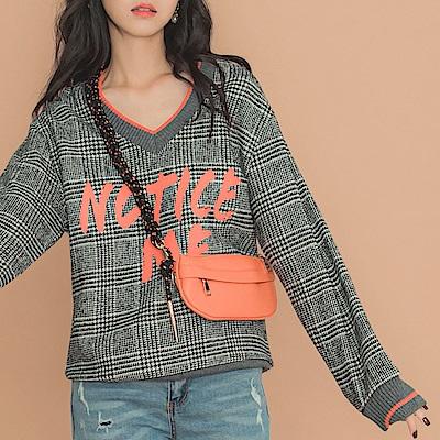 IREAL編織肩帶橘色皮革多用包