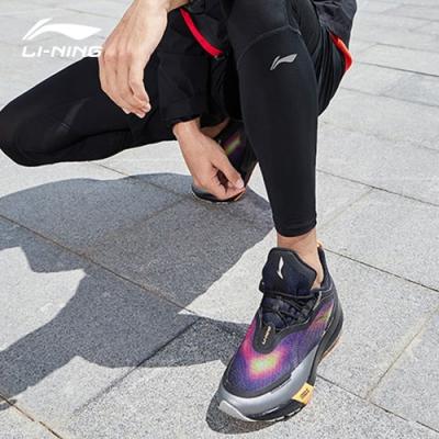 LI-NING 李寧 星耀SHIELD減震系列慢跑鞋 標準黑/廣東藍 男款(ARHQ129-1C)