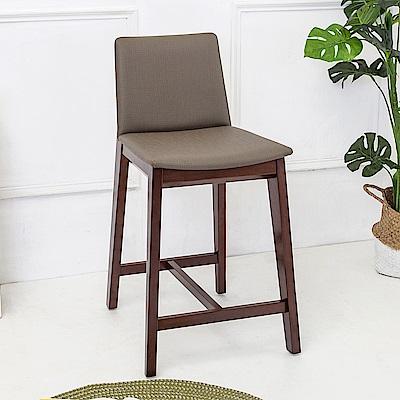Boden-森瓦實木吧台椅/吧檯椅/高腳椅(矮)(二入組合)-46x54x85cm