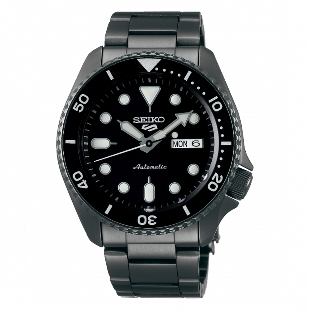 SEIKO 5 sport運動潮流機械腕錶/黑鋼4R36-07G0SD(SRPD65K1)