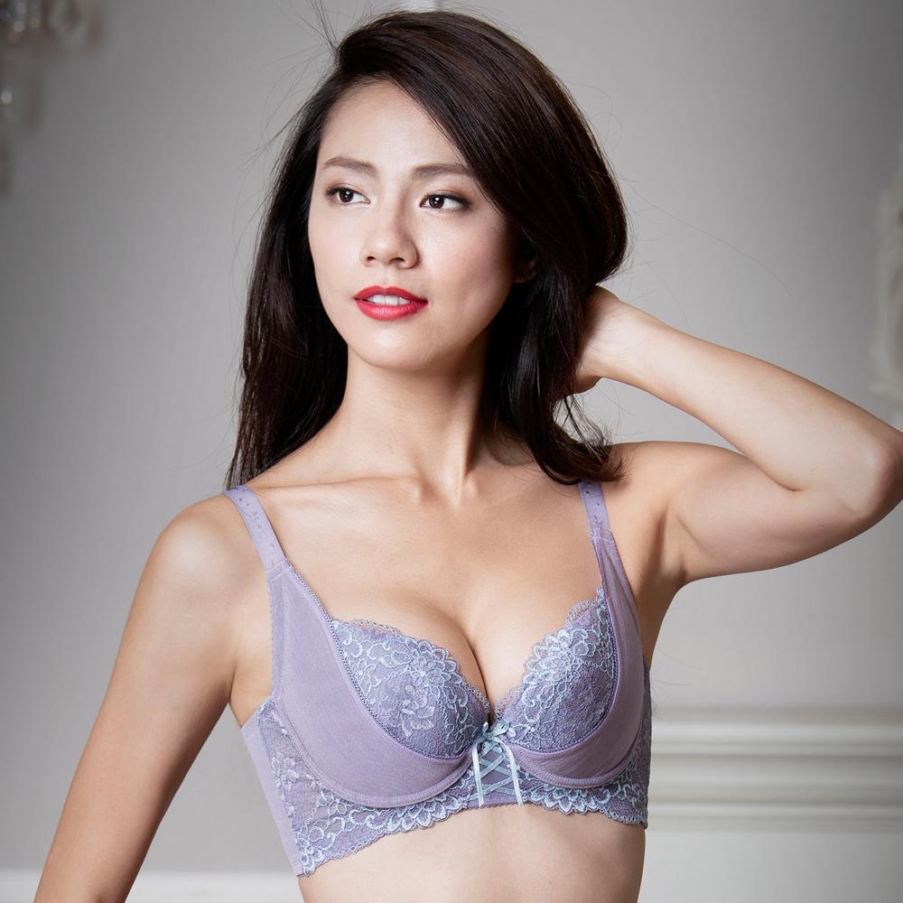摩奇X-美麗系列挺魔力DEF 大尺碼調整型內衣(紫)經典熱銷