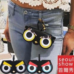 seoul show首爾秀  憤怒鳥外掛墨鏡收納包光學眼鏡保護夾太陽眼鏡盒