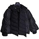 MONCLER PREMIERE 品牌羽絨車縫可愛縮袖口傘裝設計羽絨衣(黑)
