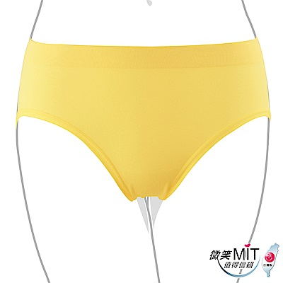 推EASY SHOP-iMEWE 中低腰三角褲(原生黃)