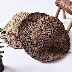 米蘭精品 草帽防曬遮陽帽-夏季戶外休閒百搭女帽子母親節禮物73rp34
