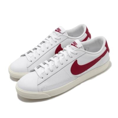 Nike 休閒鞋 Blazer Low Leather 男鞋 基本款 皮革 簡約 舒適 穿搭 白 紅 CI6377102