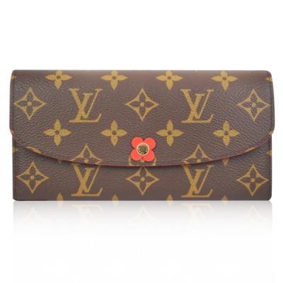 Louis Vuitton LV M62941 Emilie 經典花紋小花扣式長夾