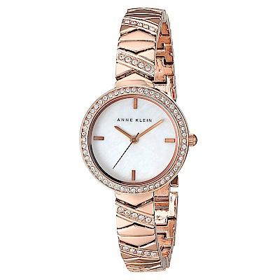 Anne Klein 璀璨金漾絕美腕錶 -白x32mm AK-1798MPRG