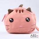 ABS貝斯貓 饅頭貓 可愛拼布拉鏈零錢包(甜心粉)88-124