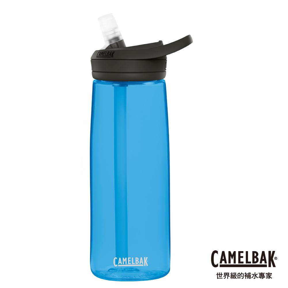 【美國 CamelBak】750ml eddy+多水吸管水瓶  透藍